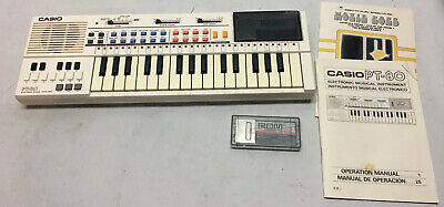 $60 • Buy Casio PT-80 Musical Keyboard + 2 ROM Packs