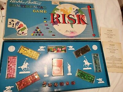 $9.99 • Buy Vintage 1959 RISK Board Game Parker Brothers Wooden Pieces Continental War Game