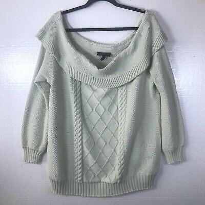 Lane Bryant Women's Size 18/20 Cable Knit Off The Shoulder Sweater Mint Green  • 12.90£