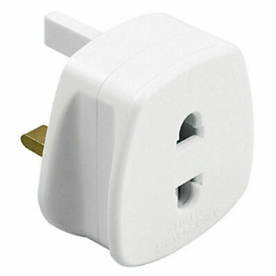 TOOTHBRUSH, SHAVER PLUG ADAPTOR CONVERTER UK ELECTRIC POWER EU 2 Pin To 3 Pin • 3.39£
