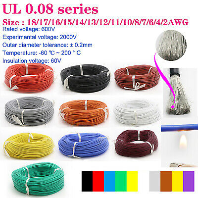 AU11.85 • Buy UL Strand Wire 18/17/16/15/14/13/12/11/10/8/7/6/4/2AWG Silicone Flexible Cables