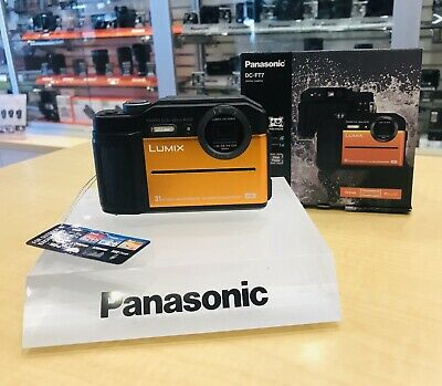 AU449 • Buy Panasonic DC-FT7 4K Digital Camera (Orange) Display Model As New