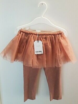 Next Tutu Skirt With Leggings Dusky Pink 12-18 Months • 0.99£