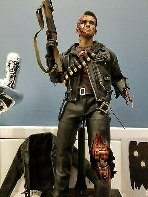 $ CDN699.99 • Buy T2 TERMINATOR T-800 T-1000 BATTLE DAMAGED Vers 1/6 HOT TOYS DX13