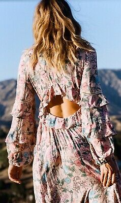 AU300 • Buy Spell Designs Authentic Sayulita Frill Gown Musk- Size XS