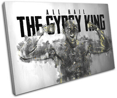 Tyson Fury Boxing Quote Sports SINGLE CANVAS WALL ART Picture Print • 19.99£