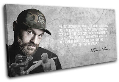 Tyson Fury Boxing Quote Sports SINGLE CANVAS WALL ART Picture Print • 29.99£