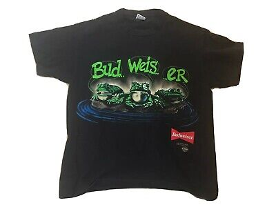 $ CDN133.33 • Buy VTG 90s Budweiser Frogs Your Pad Or Mine 1995 Beer Promo T Shirt 1995