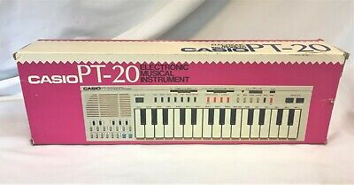 $29.99 • Buy Vtg Casio PT-20 Synthesizer Keyboard In Orig Box W/ Protectice Case & Manuals