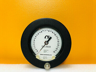 $59.99 • Buy Omega Engineering Q-8649 0 To 15 Psi 0.25% Accuracy Pressure Test Gauge. Tested!