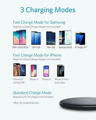 AU39.90 • Buy Anker Wireless Charger, PowerWave Pad Upgraded 10W Max, 7.5W For IPhone