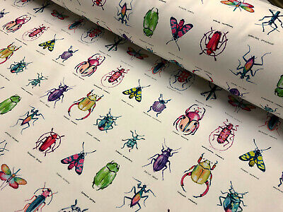 £1.20 • Buy INSECTS Butterfly Bug Beetle Fabric Cotton Material Curtain Home Decor 55'' Wide