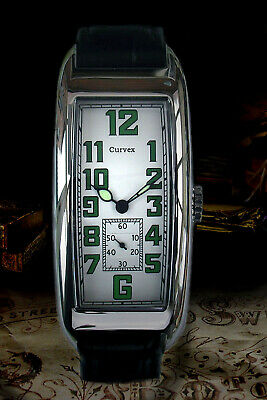 Curvex 1920s Period Style Art Decor Oblong Tanker Watch Ltd Edition 6 Only  • 185£