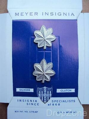 Pair US Army Lieutenant's Colonel Lt.Col Collar Badges / Insignia MEYER • 9.99£