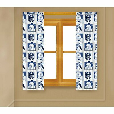 Disney Mickey Mouse NFL New York Giants Color's  Window Panels/ Curtain • 15.42£