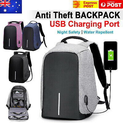 AU24.99 • Buy Anti Theft Backpack Waterproof Bag School Travel Laptop Bags + USB Charging Port
