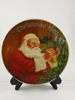 $ CDN6 • Buy Norman Rockwell Decorative Plate Santa's Golden Gift Christmas 1987 #11173C