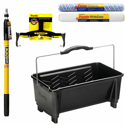 PURDY Adjustable Roller Frame Sleeves Extension Pole Paint Bucket Tray Choice • 24.16£