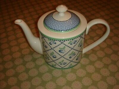 Teapot Villeroy And Boch Provence China Green Blue White • 25£
