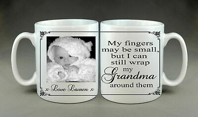 Personalised Photo Mug Mum Grandma Nanny Nanna Mothers Day Nan Gift Present • 7.99£