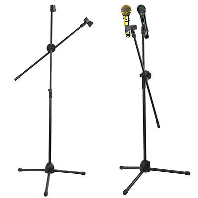 £13.95 • Buy Professional Boom Microphone Mic Stand Holder Adjustable With Free Clips New