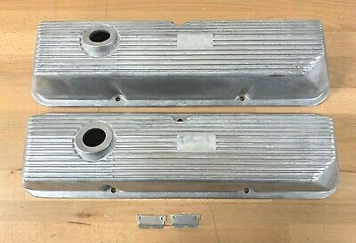 $99 • Buy Ford FE 428 Cobra Jet Finned Valve Covers As Cast- Reproduction W/ Wire Tabs