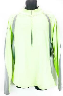 $24.75 • Buy Sporthill Swift Pro ULT Visibility III Mens Large Green 1/4 Zip Pullover Sweater