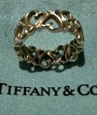 Tiffany & Co. Paloma Picasso Authentic Sterling Silver Loving Hearts Ring • 147.99£