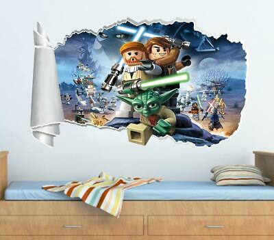 £6.96 • Buy Lego Star Wars 3D Torn Hole Ripped Wall Sticker Decal Home Decor Art Mural WT313