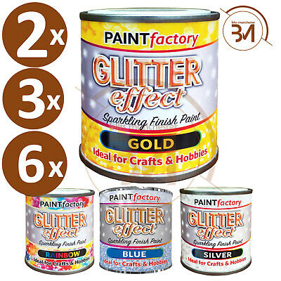 125ml Glitter Effect Sparkling Finish Craft Hobby Paint 4 Different Colour NEW • 6.95£