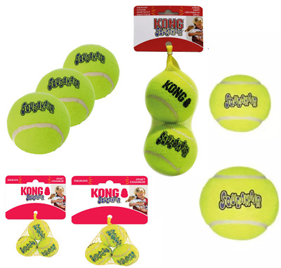 KONG SqueakAir Dog Tennis Balls XS Small Medium Large XL Or Ball On Rope Fetch • 7.99£