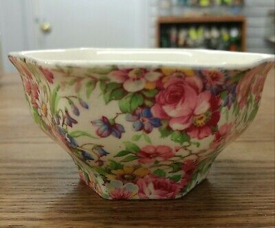 $ CDN35 • Buy Vintage Grimwades Royal Winton Ivory Summertime  Hexon Open Sugar Bowl