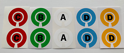 £2.85 • Buy Lawn Bowls/crown Green/short Mat Bowls Stickers Initials Id Marker (set Of 4)