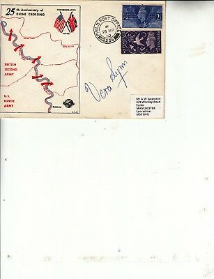 £39.99 • Buy Dame Vera Lynn Hand Signed 1970 Rhine Crossing First Day Cover. Rare Cover