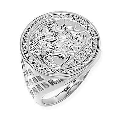 £17.90 • Buy Sterling Silver St George Ring Coin Style LARGE SIZES N To Z+5