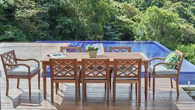 AU1999 • Buy Claire - 9 Piece Outdoor Setting - Solid Eucalyptus Timber - With 2100mm Table