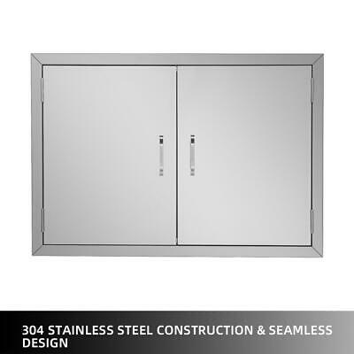 $74.69 • Buy 4 Size 31 Outdoor Kitchen / BBQ Grill Island Stainless Steel Double Access Door