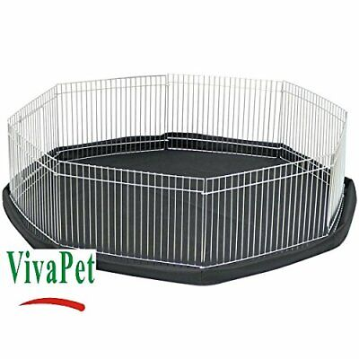 Octagon Rabbit Puppy Hamster Guinea Pig Cat Kitten Run Cage Pen With 8 Panel Si • 20.30£