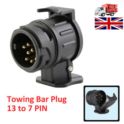 13 To 7 Pin Trailer Truck Electric Towing Converter Tow Bar Plug Adaptor Socket • 4.75£