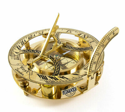 £22 • Buy Solid Brass Compass Maritime Nautical Astrolabe Marine Ship Instrument Christmas