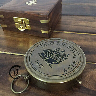 £19 • Buy Christmas Navy Ship/Boating Compass Navigation Nautical Brass Antiques Rep. C