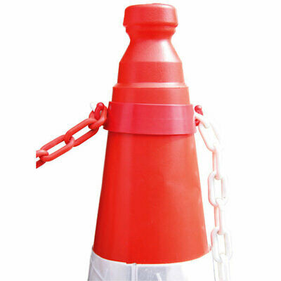 Traffic Road Cone Plastic Chain Holder Workplace Health Safety Barrier 5 & 10 Pk • 14.99£