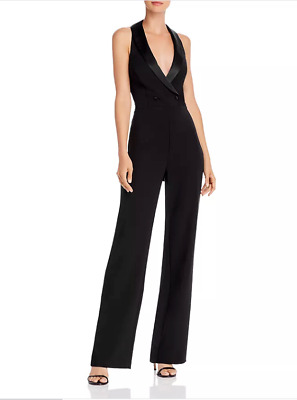 $69.99 • Buy Aidan By Aidan Mattox Crepe Tuxedo Halter Jumpsuit $245 Size 12 # 4NB 659 NEW