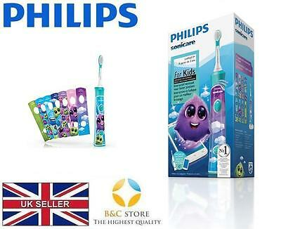 AU155.30 • Buy NEW PHILIPS HX6322/04 Sonicare For Kids Rechargeable Sonic Electric Toothbrush