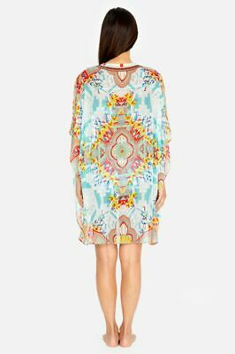 $120 • Buy Johnny Was Regina Kimono Cover Silk  Front  Boho Haute NWT L $248.00