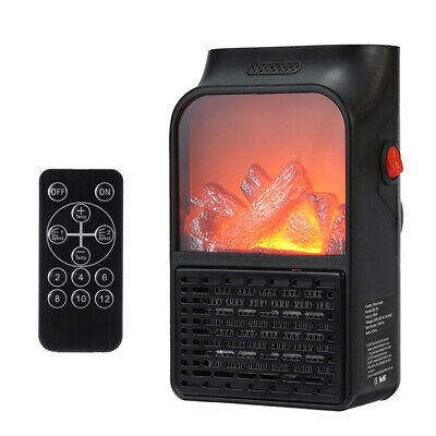 $38.72 • Buy 110V/220V Portable Electric Space Heater Fireplace Flame Fan Silent Mini Air