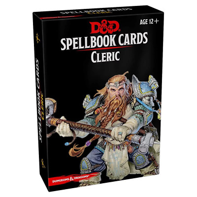 AU39.95 • Buy Dungeons & Dragons Spellbook Cards Cleric NEW