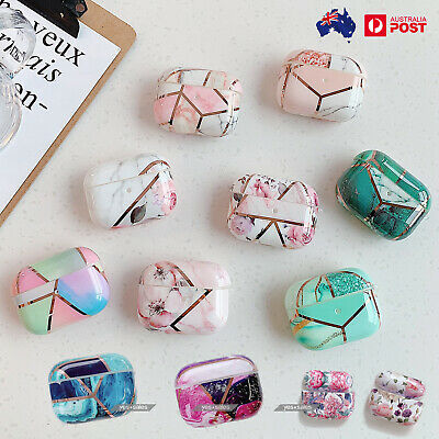 AU12.99 • Buy For Apple AirPods Pro Case Marble TPU Earphone Bluetooth Headphone IPhone 11 Pro