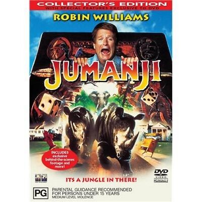 AU15.98 • Buy Jumanji DVD BEST FANTASY FILM+ACTOR Robin Williams Kirsten Dunst BRAND NEW R4