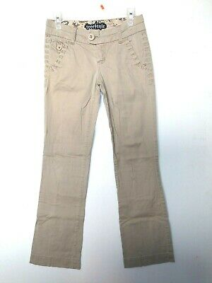$15 • Buy FREESTYLE REVOLUTION Sz 1 Pants Juniors Khaki Bootcut Womens STRETCH 30x27 Lowri